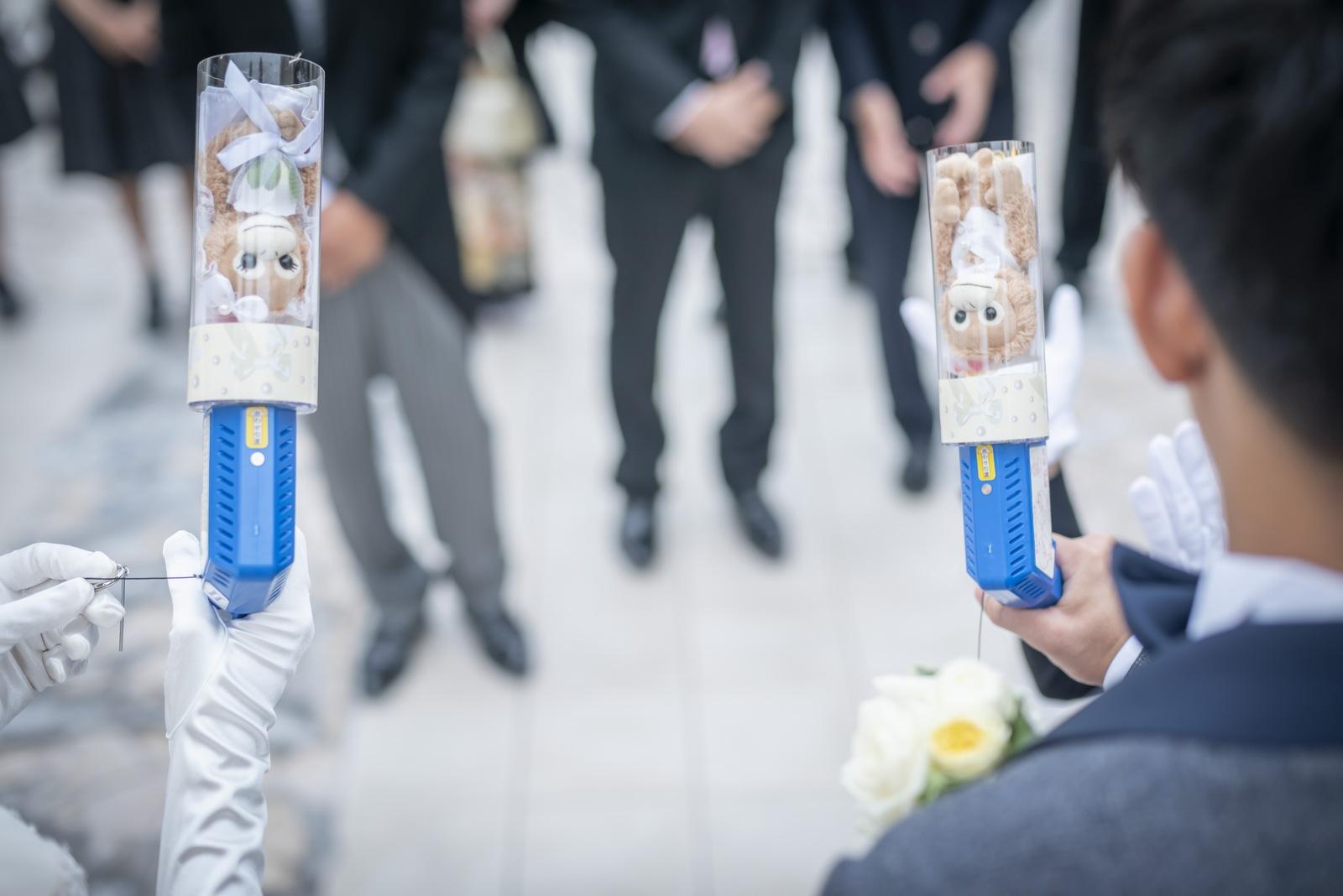 香川県の結婚式場シェルエメール&アイスタイルのパラシュートベア