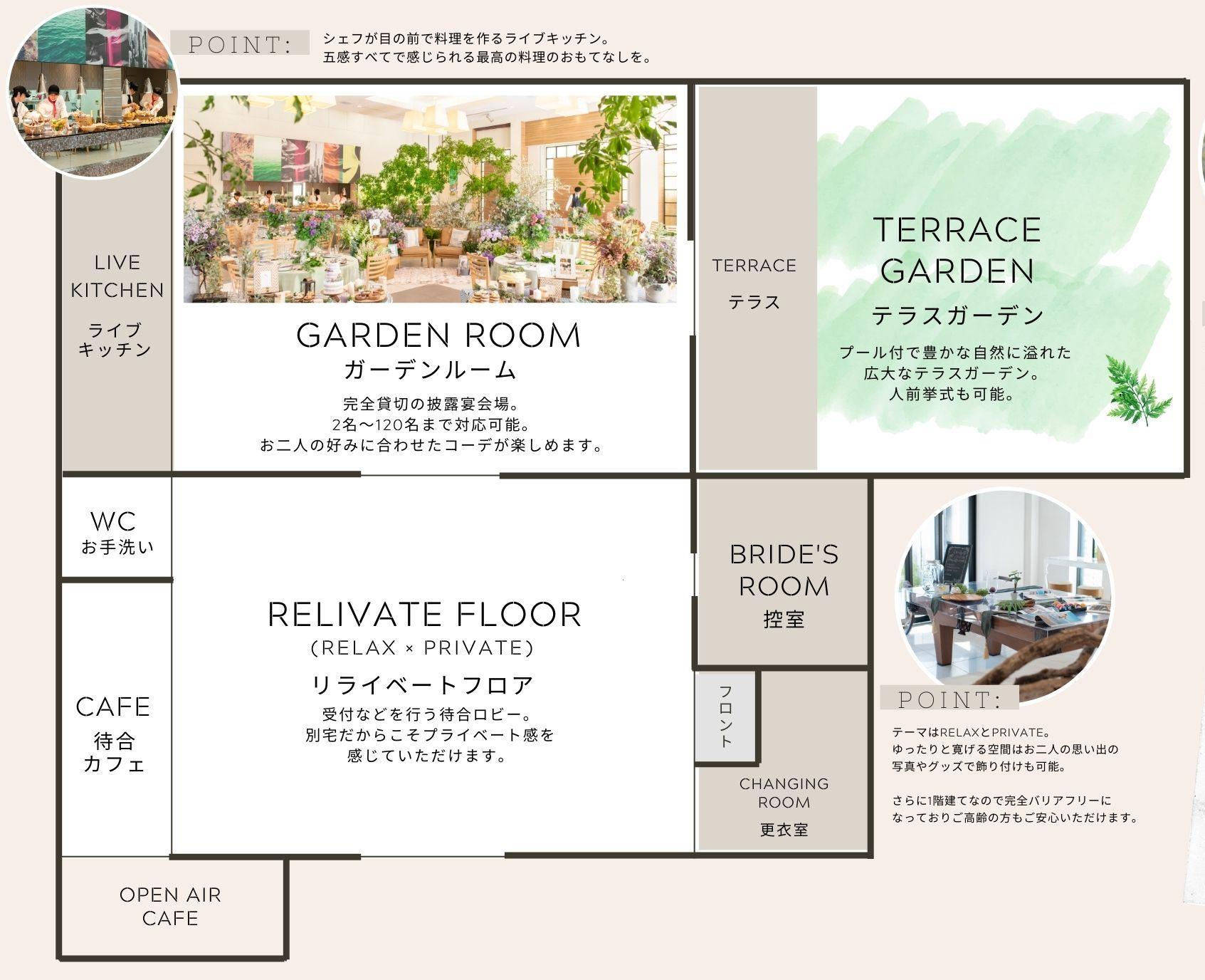 香川県の結婚式場のシェルエメール&アイスタイルの見取り図