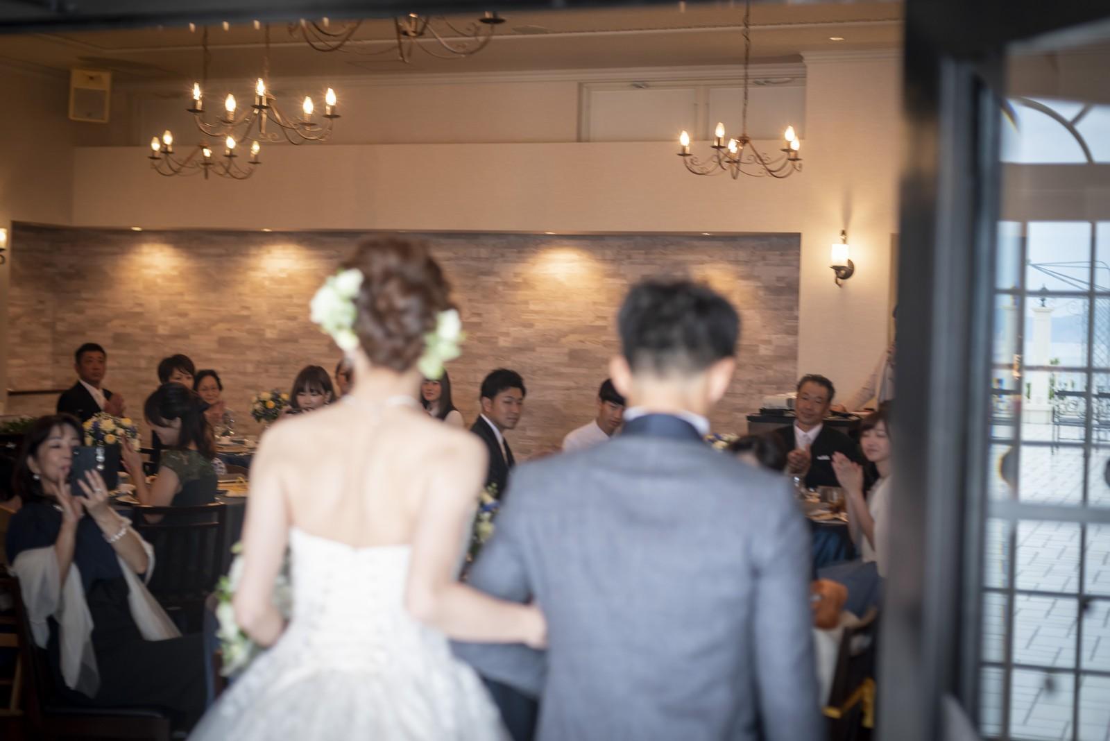 香川県の結婚式場シェルエメール&アイスタイルの入場