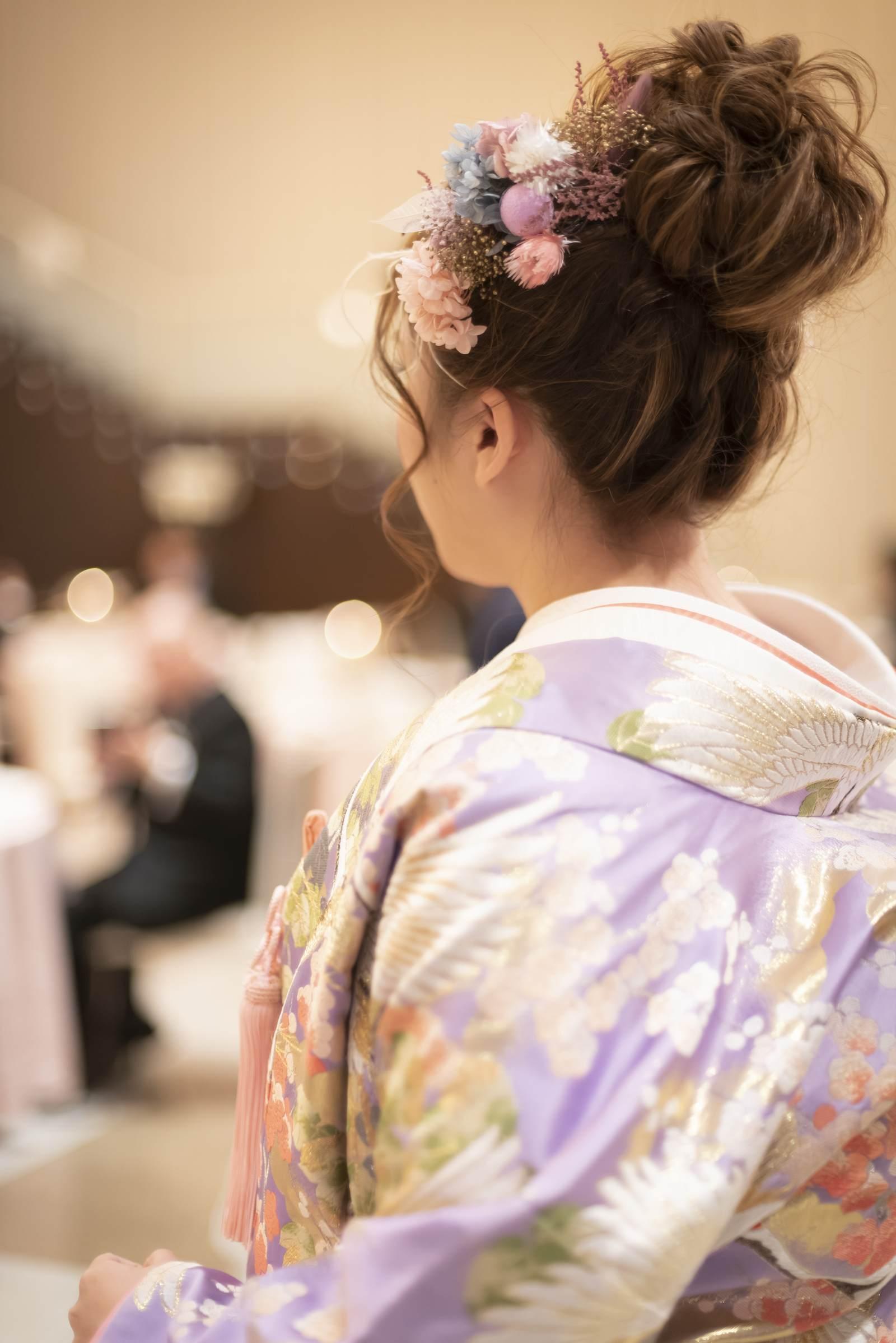 香川県の結婚式場シェルエメール&アイスタイルのヘアアレンジ